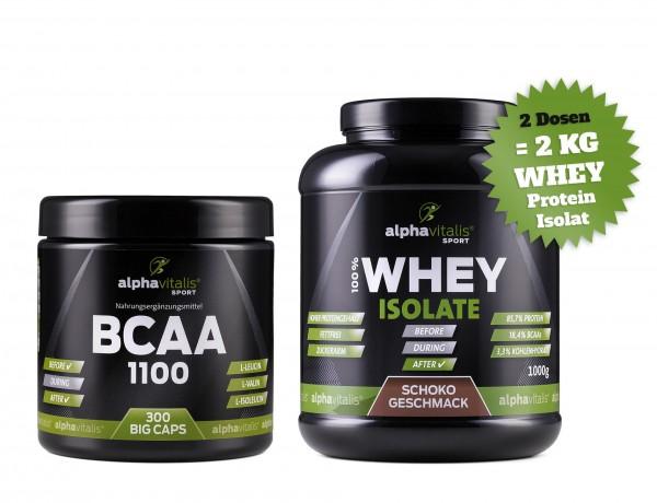 BCAA 1100 + 2xWhey + Shaker